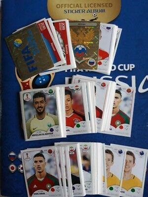 Lot 25 Images autocollants stickers PANINI 2018 RUSSIA 20 cts euro le sticker