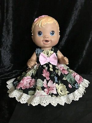 Dolls clothes made to fit 32cm Little Baby Alive Dolls.(Sm) Sleeveless Dress