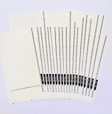 Brother/Knitking ORIGINAL KH830 PUNCHCARD SET 'D' 25 Cards incl. 5 lace