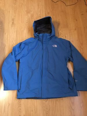 8b7181d7c0 THE NORTH FACE 2 in 1 Jacke, HyVent, mit Kapuze, Blau, Größe L - EUR ...