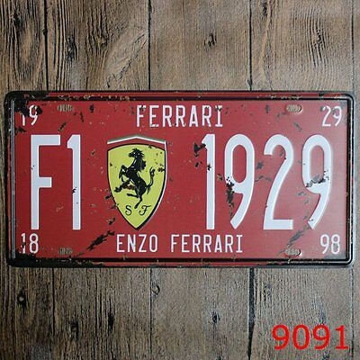 Metal Tin car plate enzo ferrari  Decor Pub Home Vintage Retro Poster Cafe ART