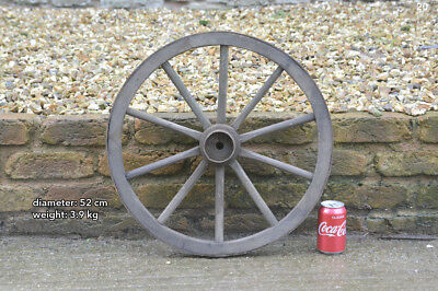Vintage old wooden cart wagon wheel  / 52 cm  FREE DELIVERY