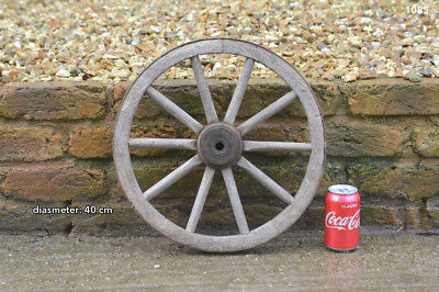 Vintage old wooden cart wagon wheel  / 40 cm  FREE DELIVERY