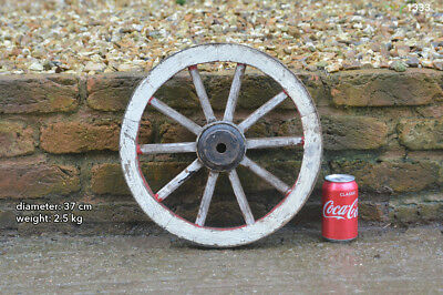 Vintage old wooden cart wagon wheel  / 37 cm  FREE DELIVERY