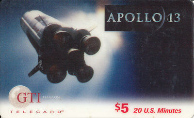 Apollo 13 Movie $5 GTI Telecard 1995 Phone Card A13