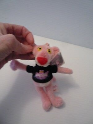 """Aurora 2009 Pink Panther Plush Stuffed 6"""" toy Clip on Mint w/ Tags"""