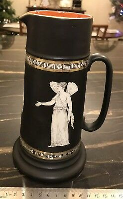 Vintage Royal Bayreuth Corinthian Greek Key Neoclassical Large Pitcher/ Jug