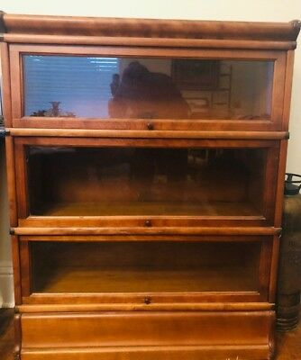 Antique 4 Stack Golden Oak Lawyer Barrister The Globe Wernicke Bookcase