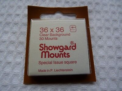 1 pack x Showgard Mounts 36/36 Clear Background 30 Mounts in pack - Ref: 3754
