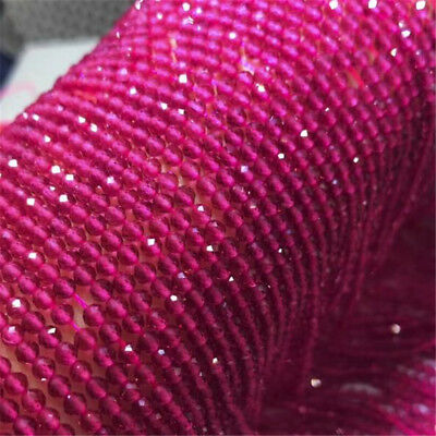 """1pcs 4MM Rose spinel Faceted Gemstone Loose bead 15"""" Wholesale Styles Craft DIY"""