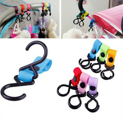 2Pcs Baby Kids Pushchair Pram Stroller Buggy Hanger Trolley Clip Holder Hooks
