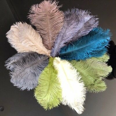 Real Ostrich Feathers - 8 Colours - Sold as pack of 6