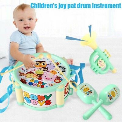 6Pcs/Set Baby Boy Girl Drum Musical Instruments Band Kit Kids Children Toy Funny