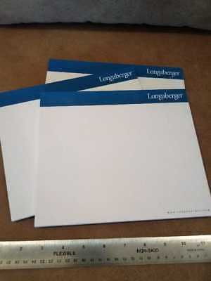 Longaberger large note pads and envelopes