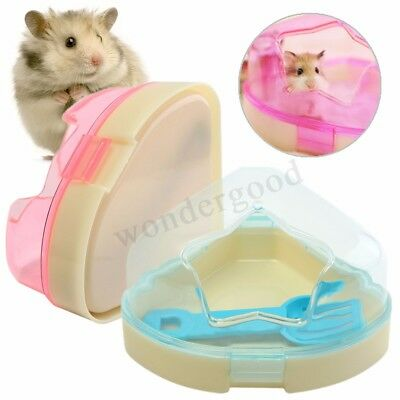 Hamsters Gerbils Mice Cage Corner Toilet Potty With Star Roof & Litter