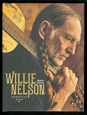 """WILLIE NELSON Outlaw Folk Music """"American Icon"""" Signed Autographed Book PSA/DNA"""