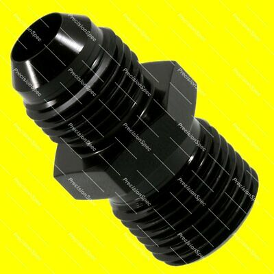 AN6 Aluminium Straight Male Flare to M16x1.5 Metric Fitting Adapter - Black