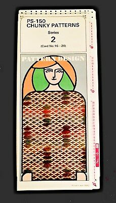 Silver Reed PS150/SK155 12 ST PUNCHCARDS Chunky Patterns Series 2 - Cards 16-20