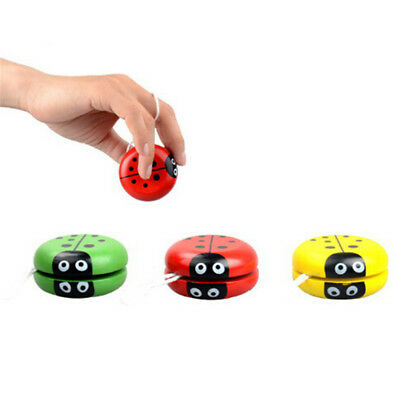 Yoyo Classic Toys Insect Bug Ladybug YoYo Ball Kids Creative Wooden Gift Toy 3C