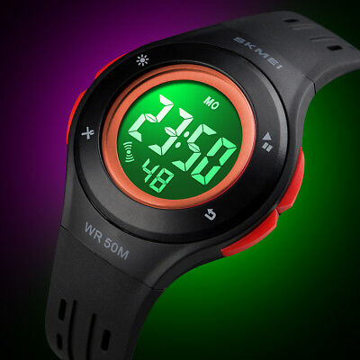 Kids Boy Girl Multi Function Waterproof Sports Stopwatch LED Digital Wrist Watch