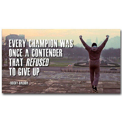Rocky Balboa Motivational Quotes Silk Poster 13x24inch SYLVESTER STALLONE