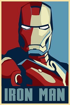 New Iron Man Poster Comic Movie Silk Wall Poster Art Pictures 13x20 24x36 inch