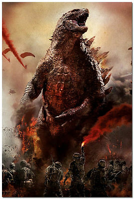 Godzilla Movie Anime Art Silk Poster The King Of Monsters 13x20 24x36' inch