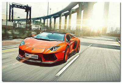 Lamborghini Aventador Super Car Silk Poster 13x20 24x36 Large Print Wall Decor 5
