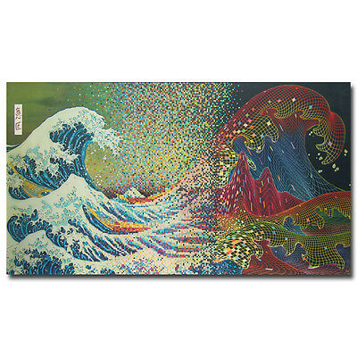 Psychedelic Trippy Abstract Art Silk Poster Print 13x24 20x36 inch Sea Waves