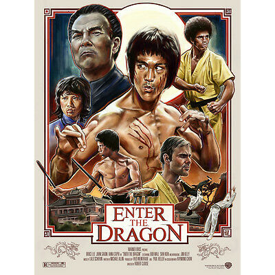 Bruce Lee - ENTER THE DRAGON Movie Silk Poster 13x18 24x32 inch 002