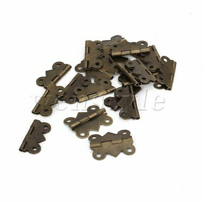20PCS Vintage Butterfly Door Hinges 180 Degree for Jewelry Box Cabinet