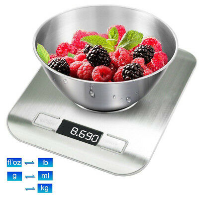 Stainless Steel Digital LCD Electronic Kitchen Cooking Food Weighing Scales 5KG
