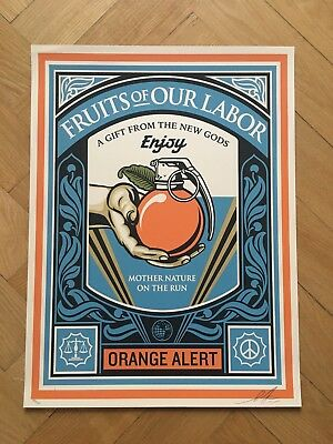 Shepard Fairey Obey Fruits of the Labor Screen Print