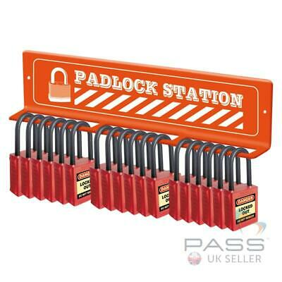 Lockout Tagout Padlock Station with Space for 18 Locks