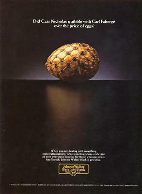 1984 Johnnie Walker Black Scotch Whisky: Carl Faberge Egg Magazine Print Ad