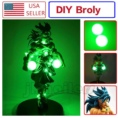 Anime Dragon Ball Z Blue Super Saiyan Broly/Broli Action Figure & DIY LED Lamps