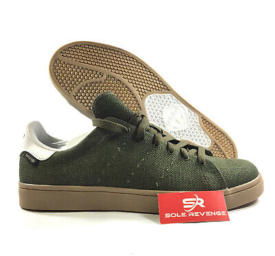 new product 72fa3 aa29c NEW 9 ADIDAS Originals HEMP Stan Smith Vulc Cargo Green Kevlar Gum Brown  C76950