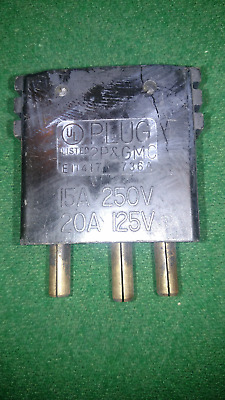 3 pin Stage Plug - Male - 15A