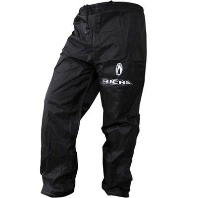 RICHA RAIN WARRIOR Size S  OVER TROUSERS WATERPROOF MOTORCYCLE BIKE PANTS BLACK