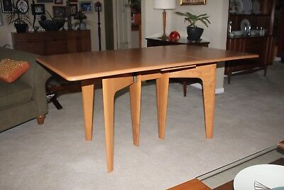 Nice Red Vintage Heywood Wakefield Dropleaf Dining Table Mid Century Modern