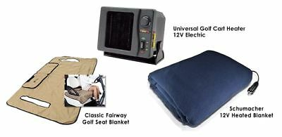 Cozy Golf Cart Bundle Kit - (includes ELECTRIC Heater, Blanket & Seat Blanket)