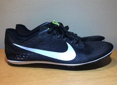 huge discount f1bc4 a0451 Nike Zoom Victory 3 Track Spikes Running Shoes Size 11.5 Black White 835997- 017