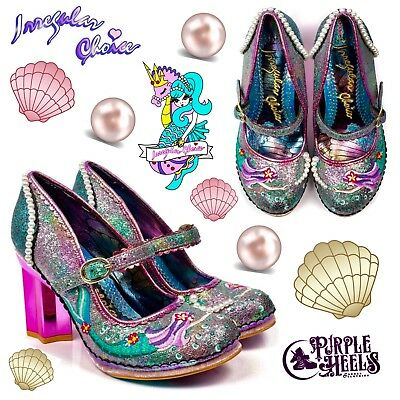 Irregular Choice Mer Magic Mermaid Pink Star Heel Unique Collectable Shoes