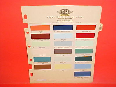 1955 Oldsmobile Super Holiday 88 Coupe Sedan 98 Starfire Convertible Paint Chips