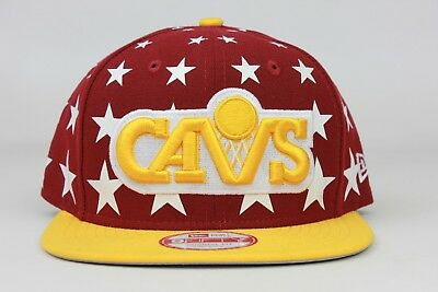 25ae08cf544 Cleveland Cavaliers Starry White Russet NBA New Era 9Fifty Snapback Hat Cap  Cavs