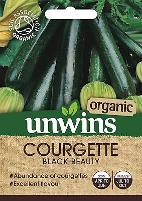 Unwins Pictorial Packet - Courgette Black Beauty (Organic) - 10 Seeds