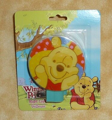 NEW disney winnie the pooh night light Rotary Shade Snaps Off