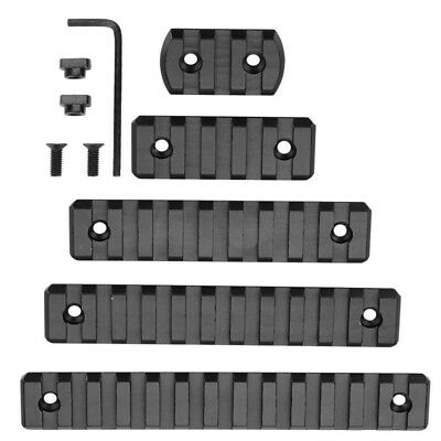 Black 5/7/9/11/13 Slot M-lok Rail Section Anodized Picatinny/Weaver Rail Segment