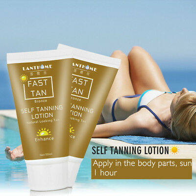 Self Tanner Organic & Natural Sunless Tanning Lotion nd Golden Tan With Hours