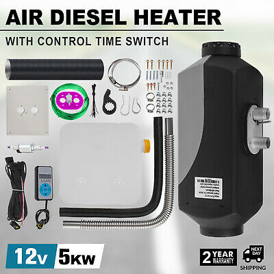 5KW 5000W 12V Diesel Air Heater 10L Tank Digital Switch For Truck Boat Trailer